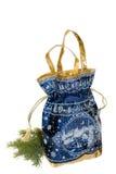 Beautiful shiny bag. For Christmas gifts Stock Image