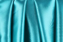 Beautiful shiny blue silk backgriund. Stock Images