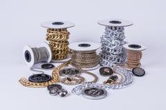 Beautiful shiny chains royalty free stock photos