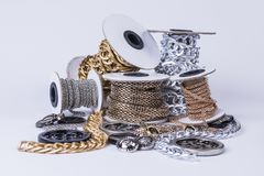 Beautiful shiny chains royalty free stock photography