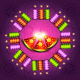 Beautiful shiny decoration  diwali crackers background Royalty Free Stock Photography