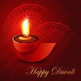 Beautiful shiny happy diwali diya colorful hindu f Royalty Free Stock Photo