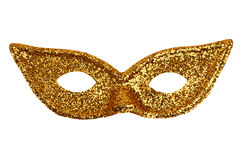 Beautiful shiny iridescent gold mask Stock Photography
