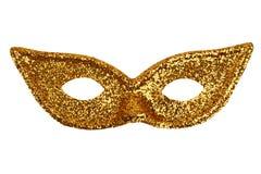 Beautiful shiny iridescent gold mask stock photography