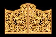 Beautiful shiny iron ornament gates Stock Photo