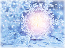 Beautiful shiny snowflake Royalty Free Stock Photo