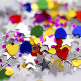 Beautiful shiny sparkling Valentines day decoration. Stock Image