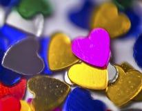 Beautiful shiny sparkling Valentines day decoration. Royalty Free Stock Photography