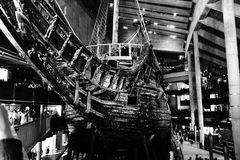 The beautiful ship Vasa in Stockholm. An impressive view to the oldest and most complete medival ship vasa in Stockholm Royalty Free Stock Photos