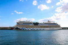 Beautiful Ships and Cruise Liners. Ships and cruise liners in the port of Funchal, Madeira, Portugal Royalty Free Stock Photos