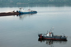 Beautiful ships on the river Royalty Free Stock Photos