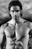 Beautiful shirtless muscular male model Royalty Free Stock Image