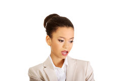 Beautiful shocked african businesswoman. Stock Images