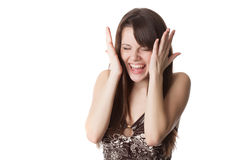 Beautiful shocked girl Stock Image