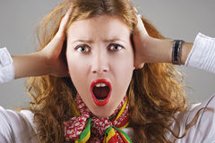 Beautiful shocked woman Royalty Free Stock Image