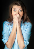 Beautiful shocked woman Royalty Free Stock Images