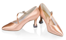 Beautiful shoes for ballroom dancing Royalty Free Stock Images