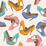 Beautiful  shoes seamless pattern. Royalty Free Stock Image