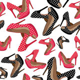 Beautiful  shoes seamless pattern. Royalty Free Stock Photography