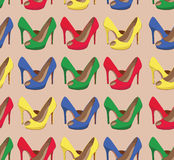 Beautiful  shoes seamless pattern. Stock Photography