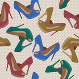 Beautiful  shoes seamless pattern. Stock Photo