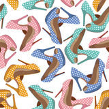 Beautiful  shoes seamless pattern. Stock Photos
