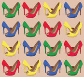 Beautiful  shoes seamless pattern. Stock Images