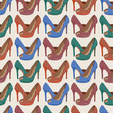 Beautiful  shoes seamless pattern. Stock Image