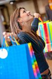 Beautiful shooping woman Royalty Free Stock Photos