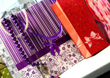 Beautiful shop bags and accessorizes Stock Image