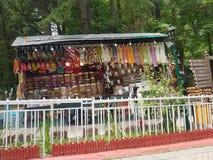 Beautiful shop of pakistani hand made things stock photos