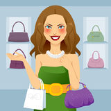 Beautiful Shopaholic Woman Stock Photo