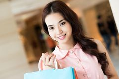 Beautiful shopper Royalty Free Stock Photography