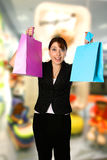 Beautiful shopper Stock Images