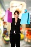 Beautiful shopper Stock Images