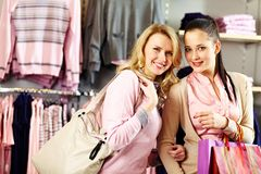 Beautiful shoppers Royalty Free Stock Photography