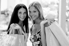 Beautiful shopping girl Stock Images