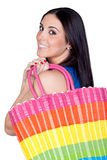 Beautiful shopping girl Stock Photography