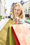 Beautiful shopping girl Stock Photos
