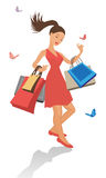 Beautiful shopping girl Royalty Free Stock Image