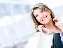 Beautiful shopping girl Stock Photo