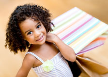 Beautiful shopping girl Royalty Free Stock Photos