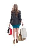 Beautiful shopping girl walking Royalty Free Stock Photos