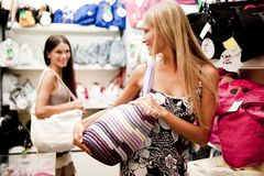 Beautiful shopping girls Royalty Free Stock Photo