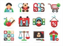 Beautiful Shopping Icons Stock Image