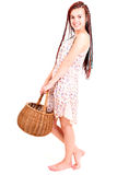 Beautiful shopping teen girl Royalty Free Stock Images