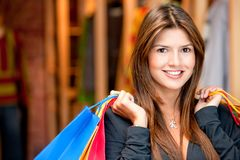 Beautiful shopping woman Stock Photo