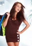 Beautiful shopping woman Stock Photos