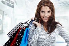 Beautiful shopping woman Stock Photography