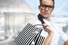 Beautiful shopping woman Stock Image